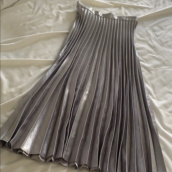 ASOS Dresses & Skirts - Silver pleated ASOS skirt